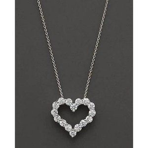1.6 Ct Round Diamond Heart Style Necklace Pendant